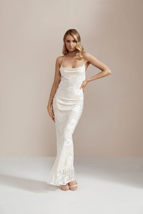 Rat & Boa Primrose Gown Backless, Floor Length, Maxi Ivory