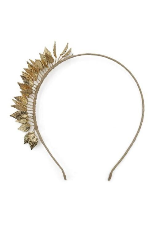 Morgan & Taylor Honey Headpiece  Gold