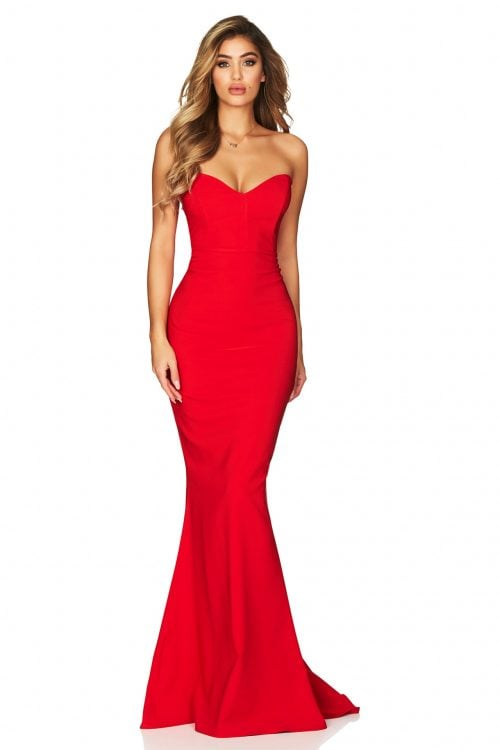 Nookie Magic Gown Floor Length, Strapless Red