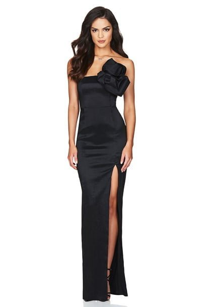 Nookie Candice Gown Floor Length, Maxi, Strapless Black