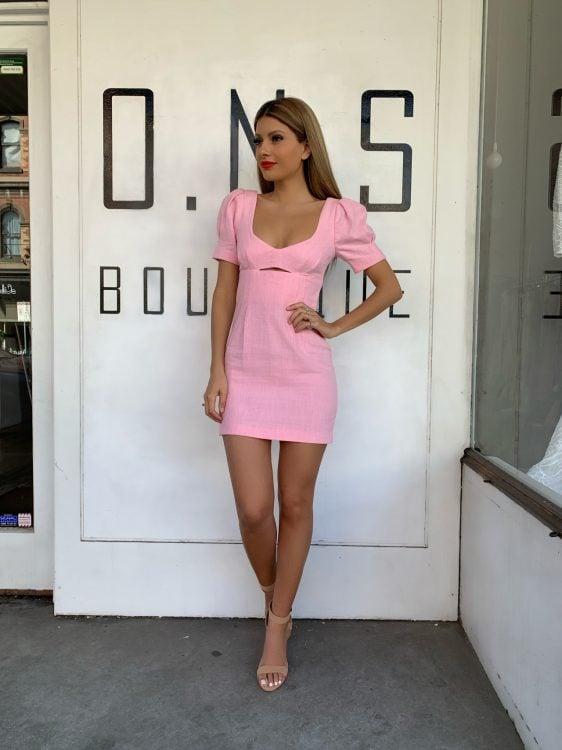 Bec & Bridge Sweet Pea Mini Dress Mini Pink