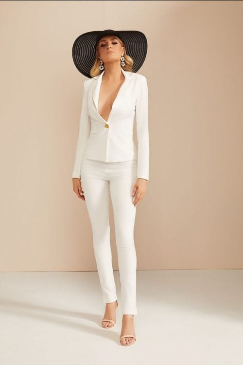 Nookie Muse Blazer & Pants Long-Sleeve, Two-piece Set Ivory