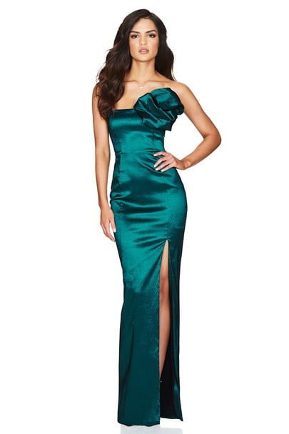 Nookie Candice Gown Floor Length, Maxi, Strapless Teal