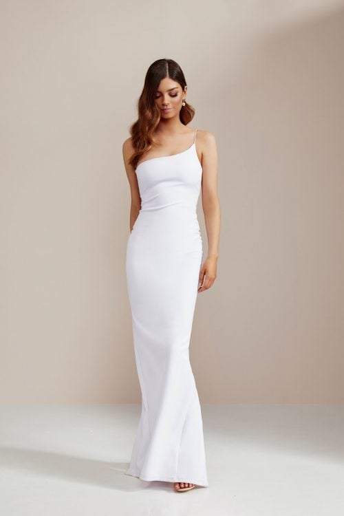Nookie Penelope Gown Floor Length, Maxi, Off-Shoulder White