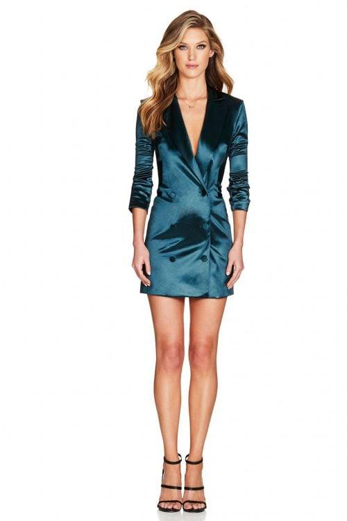 Nookie Slay Blazer Dress Mini Emerald
