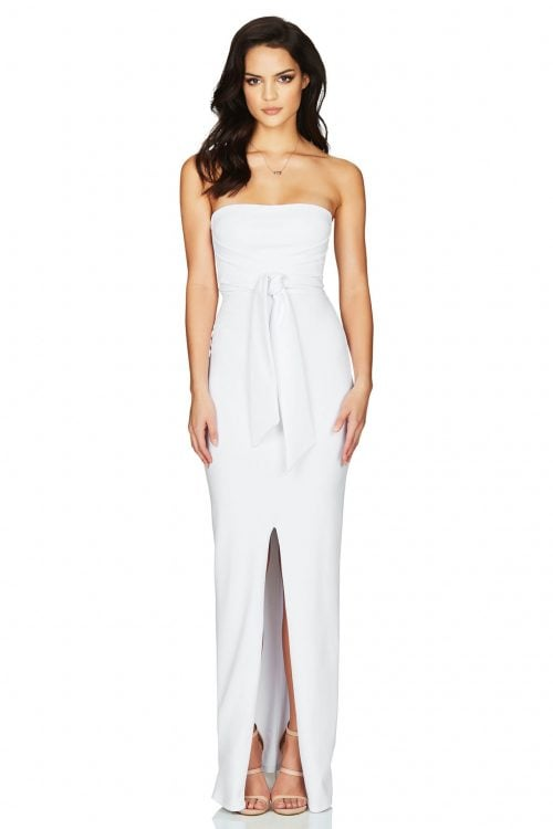 Nookie Royal Gown Floor Length, Maxi, Strapless White