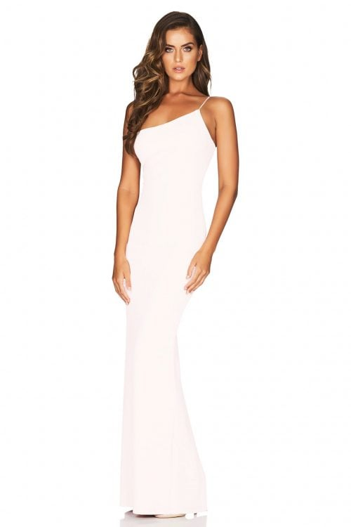 Nookie Penelope Gown Floor Length, Off-Shoulder White