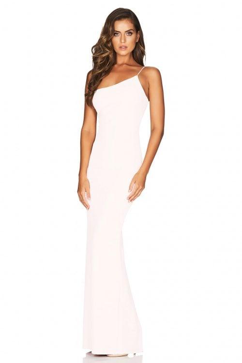 Nookie Penelope Gown Floor Length, Maxi, Off-Shoulder White
