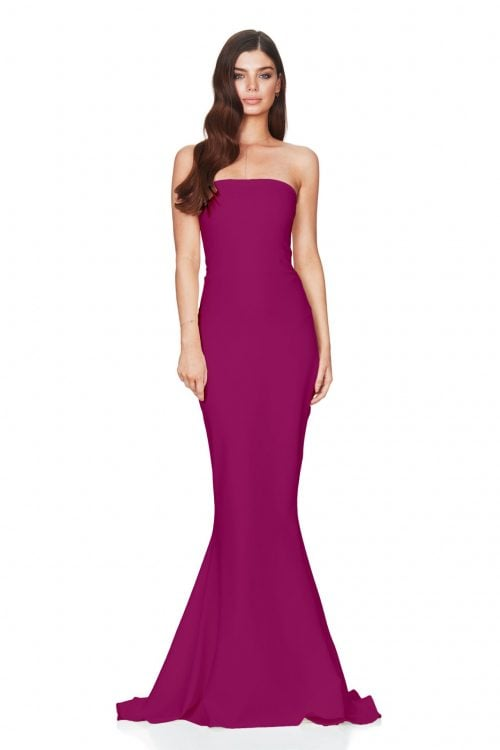 Nookie Angelina Gown Floor Length, Maxi, Strapless Ruby