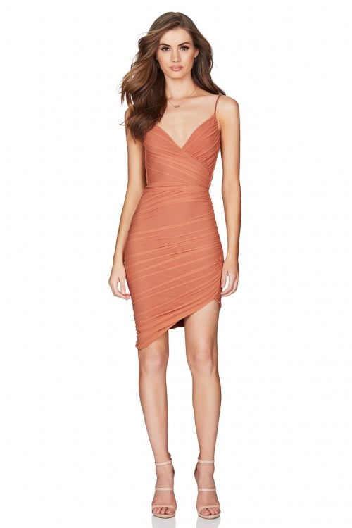 Nookie Moscow Mini Mini, V-Neck Tan