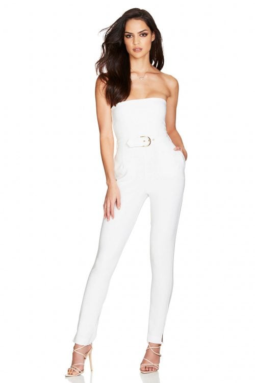 Nookie Impulse Jumpsuit Jumpsuit, Strapless Ivory