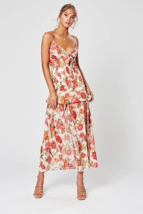 Winona Rosa Maxi Dress Maxi, Midi Print