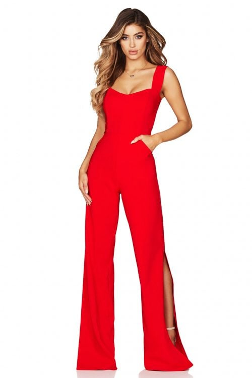Nookie Divine Jumpsuit Jumpsuit Red