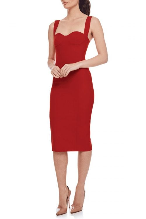 Bianca & Bridgett Bella Dress Knee Length, Midi Red
