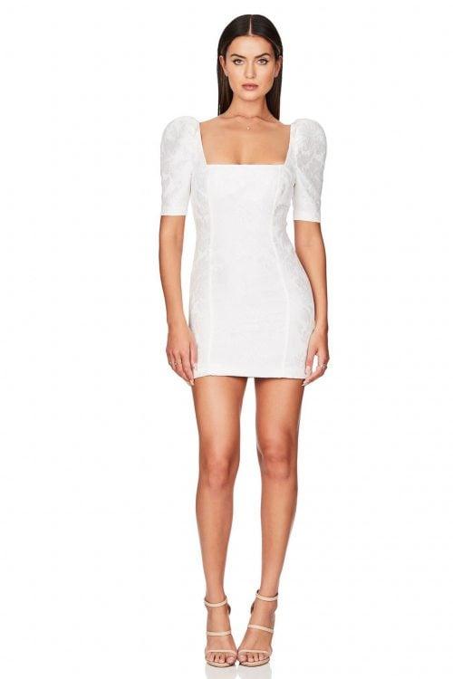 Nookie Solana Sleeve Mini Long-Sleeve, Mini Ivory