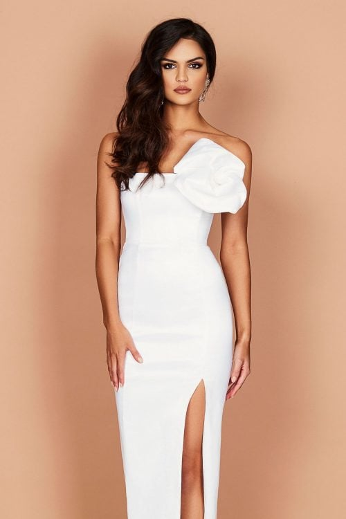Nookie Candice Gown Floor Length, Maxi, Strapless White