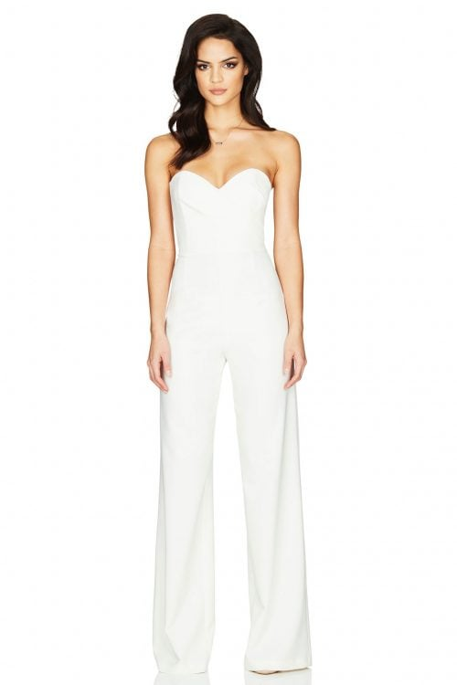 Nookie Bisous Jumpsuit Jumpsuit, Strapless Ivory