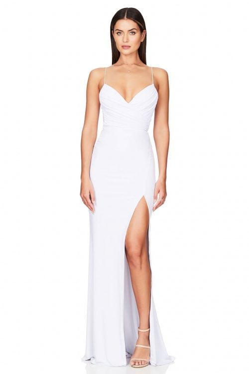 Nookie Venus Gown Floor Length, V-Neck Ivory
