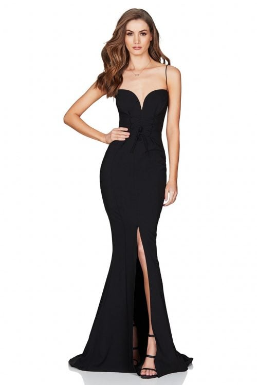 Nookie London Gown Floor Length, Maxi, V-Neck Black