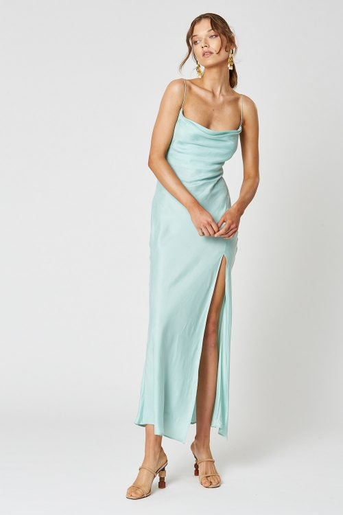 Winona Indio Dress Backless, Floor Length, Maxi Blue