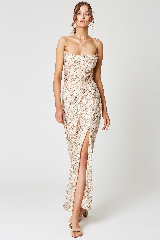 Winona Sahara Maxi Dress Backless, Maxi Print