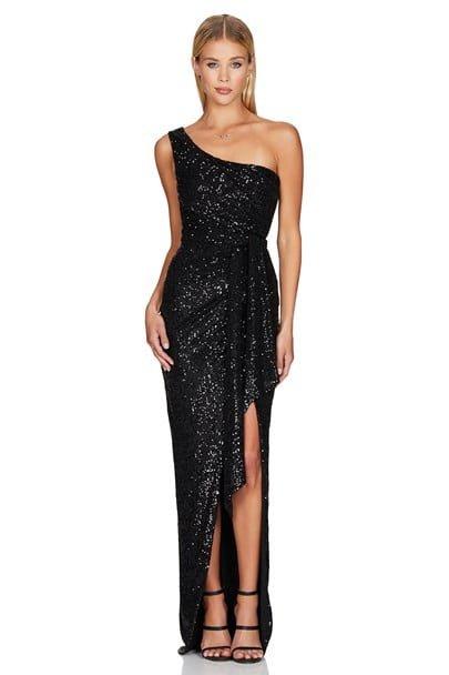 Nookie Palazzo Gown Floor Length Black