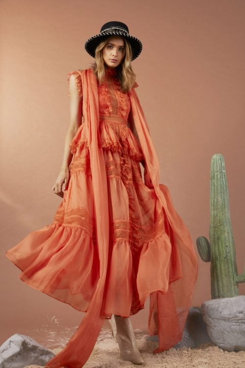 Elliatt Evandale Dress Maxi Orange