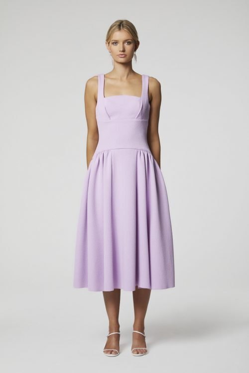 Elliatt Sammy Dress Knee Length, Midi Lilac