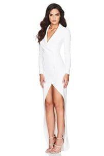 Nookie Bella Blazer Dress Floor Length, Long-Sleeve, Maxi, Mini Ivory