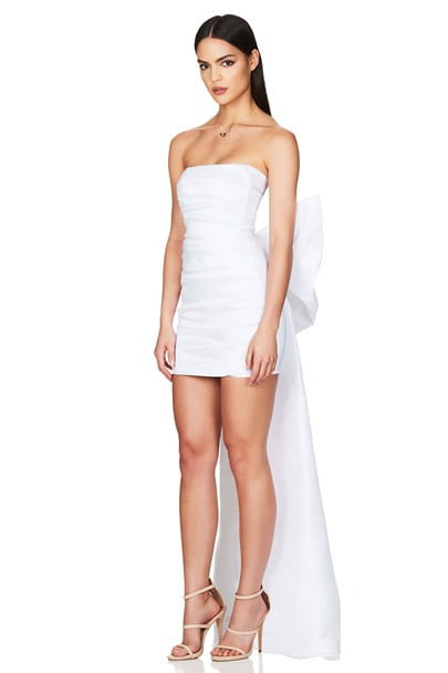 Nookie Adore 2 Way Dress Floor Length, Maxi, Mini, Strapless White