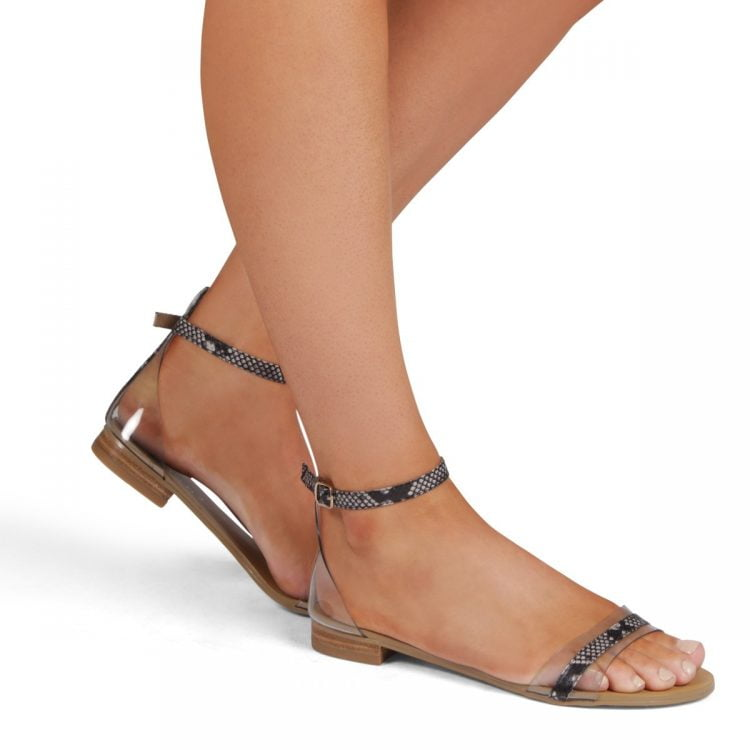 Billini Umbria Sandal  Natural Snake