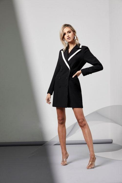 Elliatt Kenzie Blazer Long-Sleeve, Mini Black