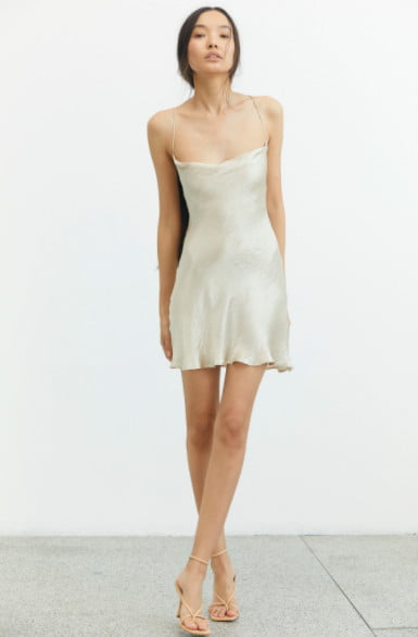 Third Form River MINI Backless, Mini Nude