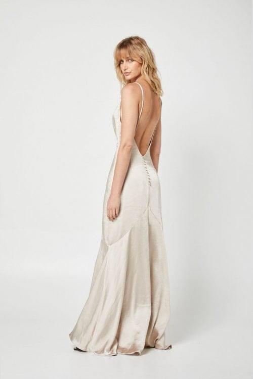 Elliatt Felecia Dress Backless, Floor Length, Maxi Gold