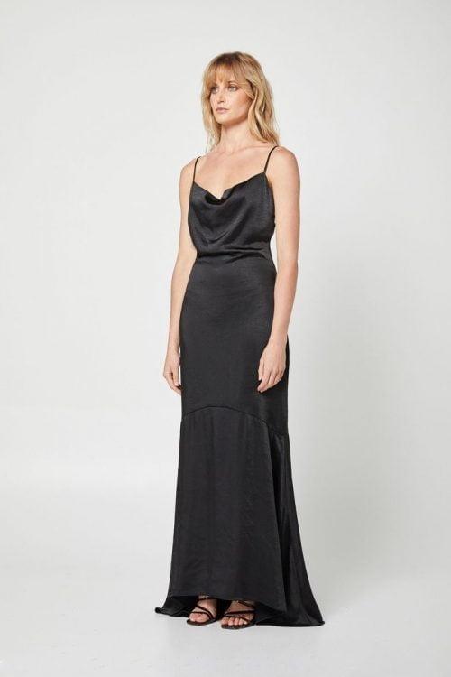 Elliatt Felecia Dress Backless, Floor Length, Maxi Black