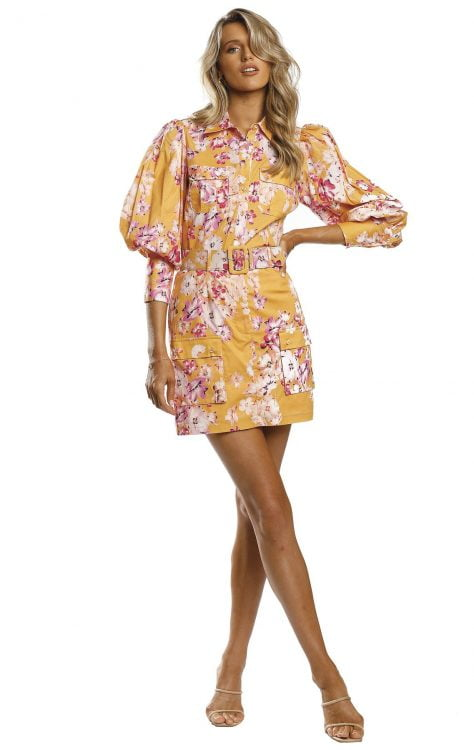 Pasduchas Chameleon Top & Skirt Set Long-Sleeve, Mini, Two-piece Set Floral