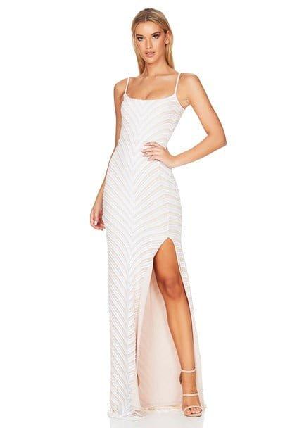 Nookie Zahara Gown Floor Length, Maxi White