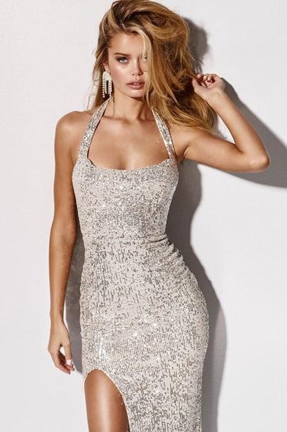 Nookie Fantasy Gown Floor Length Silver