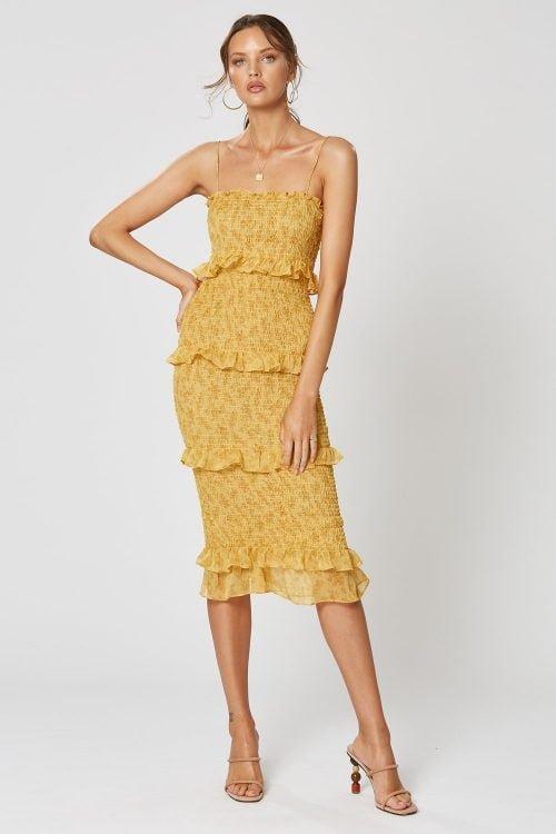 Winona Madeline Midi Dress Knee Length, Midi Print