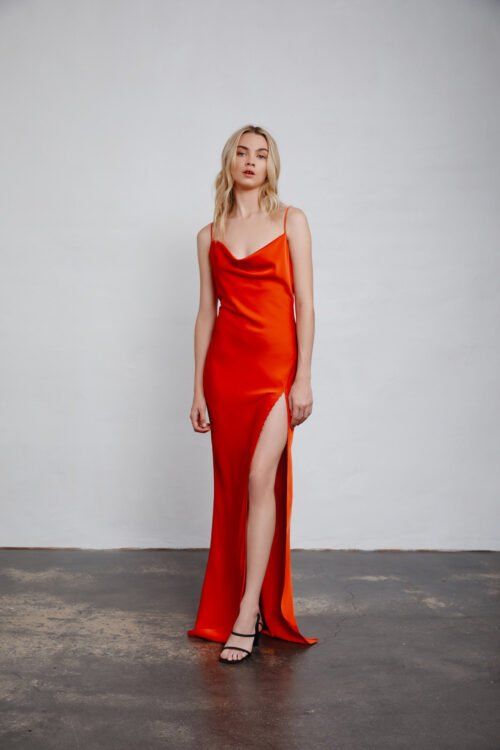 Lexi Alika Gown Backless, Floor Length, Maxi Red