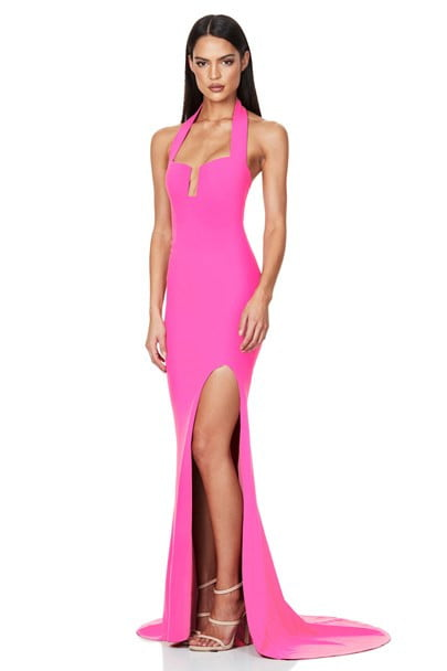 Nookie Destiny Gown Backless, Floor Length, Maxi Pink