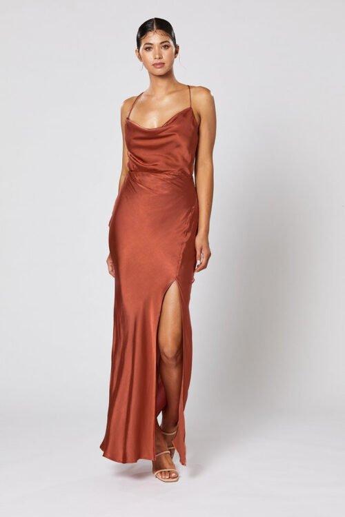 Winona Alma Dress Backless Copper