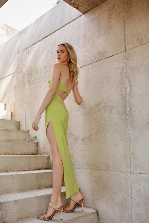 Lexi Deka Dress Midi Green