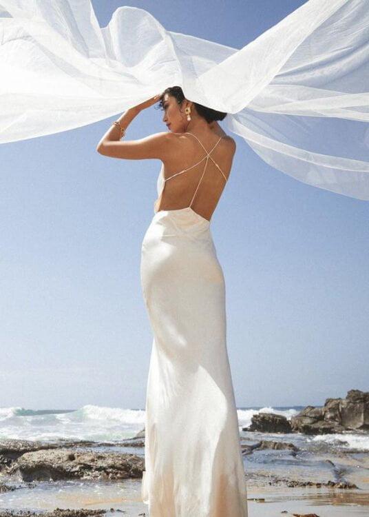 Winona Alma Dress Backless Ivory
