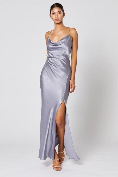 Winona Alma Dress Backless Steel
