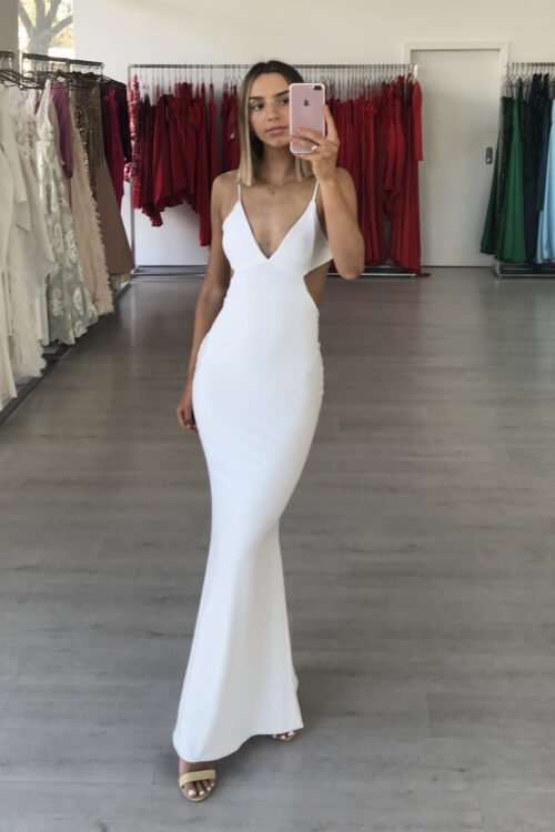 D'Lelle Madison Gown Backless Ivory