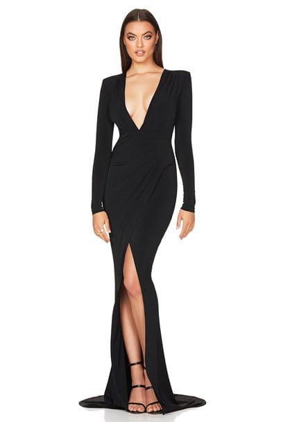 Nookie Farrah Gown Floor Length Black