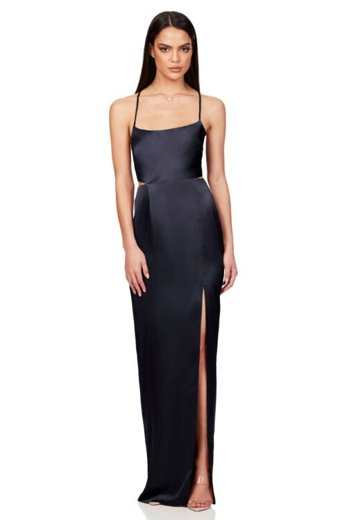 Nookie Stella Cut Out Gown Backless, Floor Length, Maxi Navy