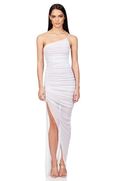Nookie Mecca Gown Floor Length, Maxi, Off-Shoulder White